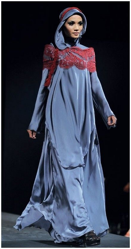 Blue hijab, dress