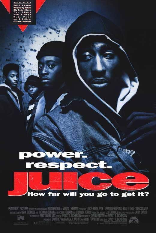 Tupac Shakur Juice Movie POSTER 11 x 17 Omar Epps A Jermaine Hopkins USA NEW