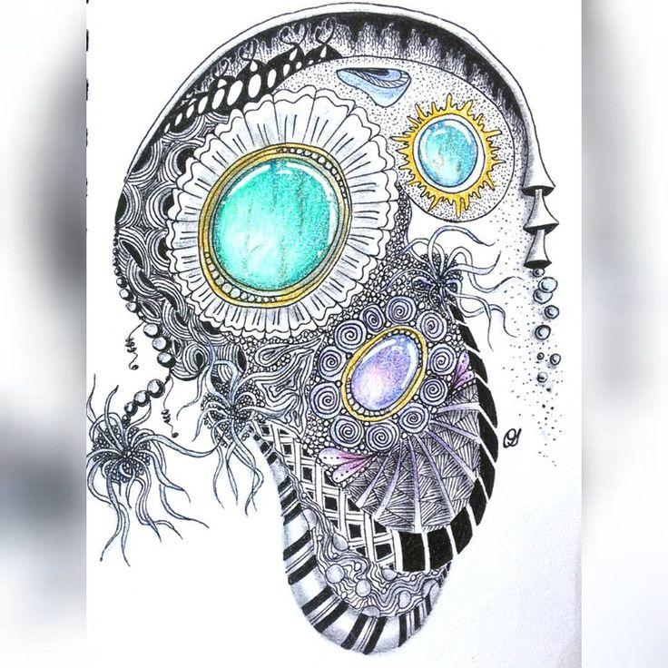 Не спрашивайте, что я нарисовала - сама не знаю🎨🙈 Психоделическая абстракция какая-то😄 Доброе утро всем!🙆 #тангл #зентангл #зенкамни #психоделика #абстракция #зенарт #ярисую #учусьрисовать #скетчбук #дудлинг #зендудлинг #арт #акварельныекарандаши #olgaushakova_art #zentangle #tangle #zenart #art #draw #drawing #doodling #sketchbook #zenstones #zengems #psychedelic #abstraction #irkutsk #live_irkutsk