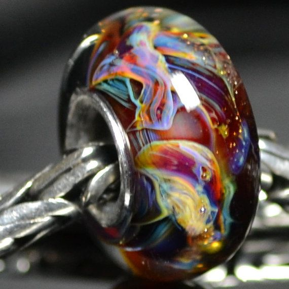 Bead Theory Handmade Lampwork Bead Healing Thoughts Will