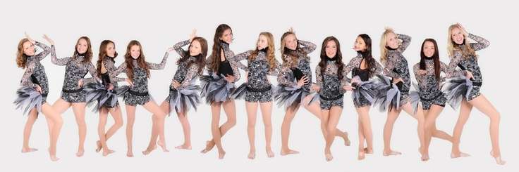 Panoramic Dance studio picture... Individual poses modge-podged by our talented photographer into one gorgeous team collection | Taken & Designed by Amber with CheapShots Photography in Utah 801-691-6746