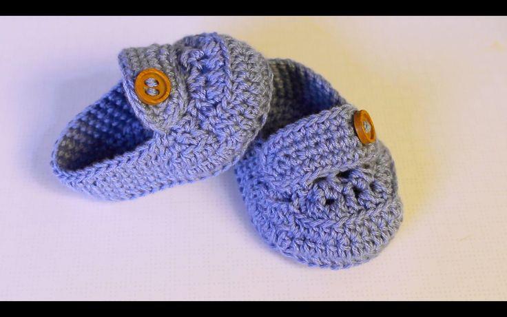 Aprende a tejer estos mocasines de bebe paso a paso / Baby :) Nivel fácil también para principiantes. Buen crochet..... No dejad de tejer vuestros sueños , t...