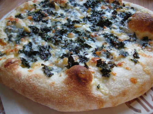 ... Kale, Roasted Garlic, & Four Cheeses | Roasted Garlic, Kale and Pizza