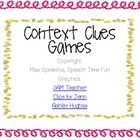 Have fun practicing using context clues in order to identify and/or express definitions of unknown or difficult words with this two-in-one activity...