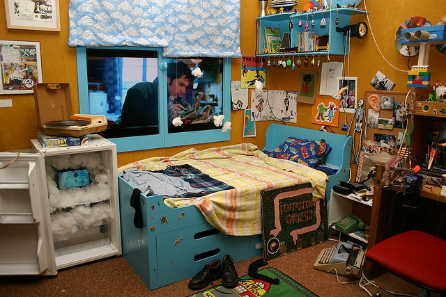 "Detail of set of Stephane's childhood bedroom from Michel Gondry's ""The Science of Sleep"" by fotoflow / Oscar Arriola."