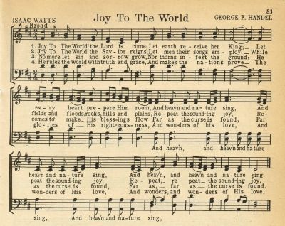 Joy To the World antique Christmas song page - KnickofTime.net
