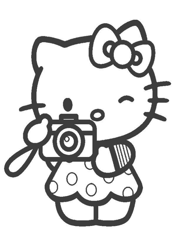 Hello Kitty With Gift Box Coloring Page Hello Kitty Colouring Pages Hello Kitty Coloring Kitty Coloring