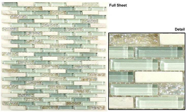 Glazzio Tiles Random Brick Mosaic Jewel Series