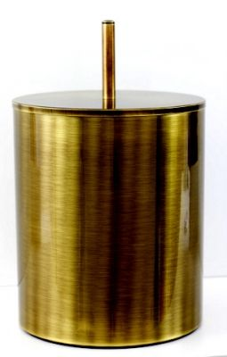 Retro Bathroom Accessories from Elina - A 5- litre bathroom lidded bin from the stylisk RETRO collection is made of high quality brass treated in an oxidation process to get a marvellous 'old gold' colour. The bin can be made chrome finish to a high gloss or matt .