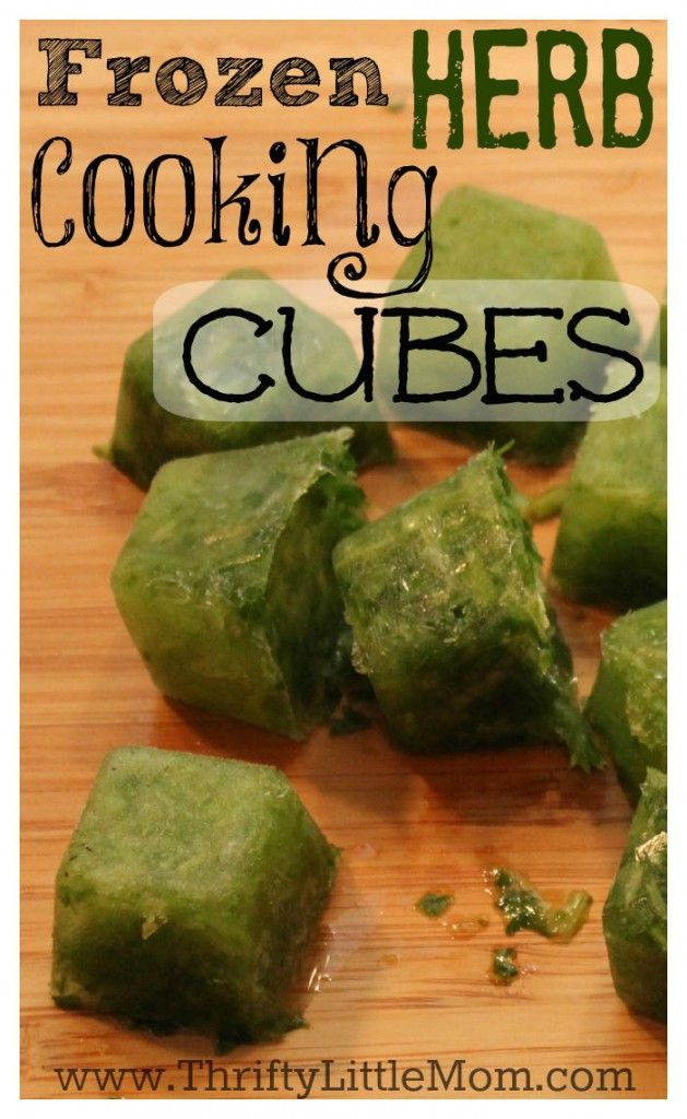 Frozen Herb Cooking Cubes.  Really simple to make and even more delicious to eat!  Kick your recipe's flavor up a notch with these simple yet awesome frozen herb cooking cube recipes.