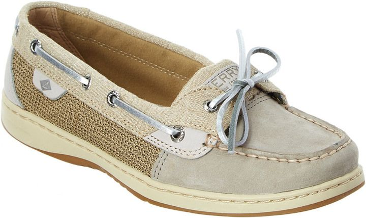 Sperry Women's Angelfish Sparkle Leather Boat Shoe