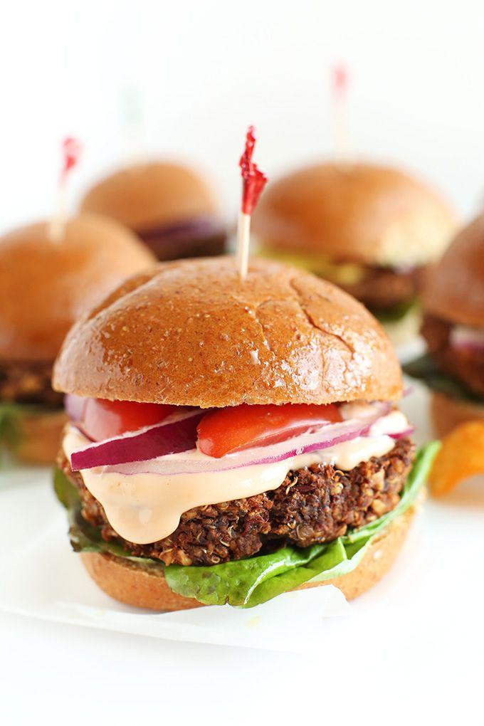 Easy, Wholesome 7 Ingredient Veggie Sliders!! | Minimalist Baker: Veggies Burgers, Simple Veggies, Kidney Beans, Red Onions, Ingredients Vegans, Veggies Sliders, Vegans Sliders, Minimalist Baker, Ingredients Veggies