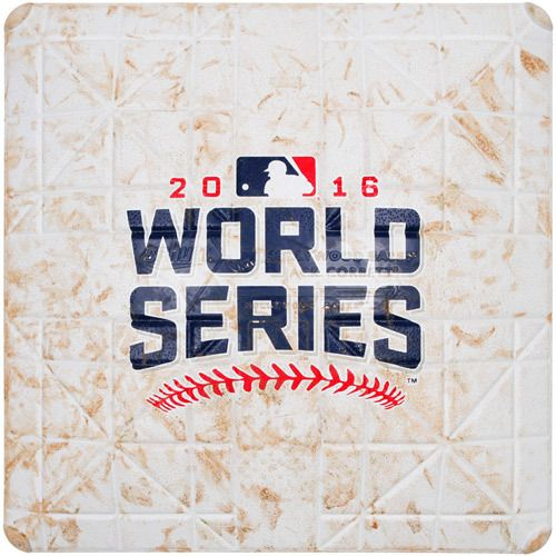 2016 World Series Game 7: Game-Used 1st Base, Used during 9th and 10th Innings (Cubs Clinch First World Series Title since 1908)