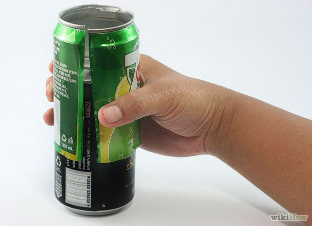 Make a soda-can sleeve to go over your beer.