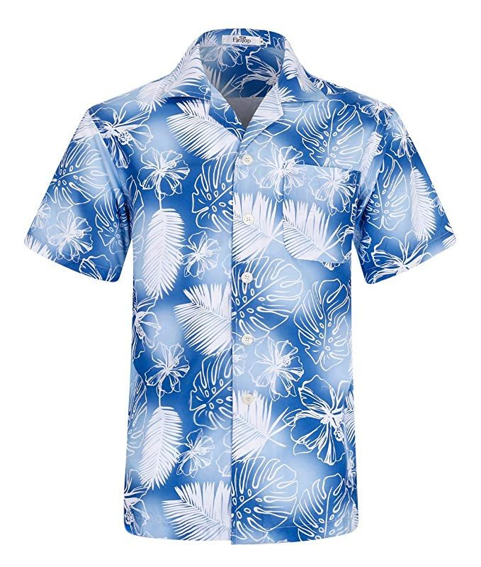 d6602d87 Men's Hawaiian Shirt Short Sleeve Aloha Shirt Beach Party Flower Shirt  Holiday Casual Shirts at Amazon Men's Clothing store: