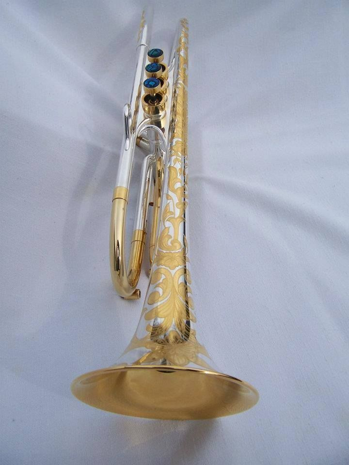 Engraveed Harrelson Trumpet --- This is drop. dead. gorgeous.