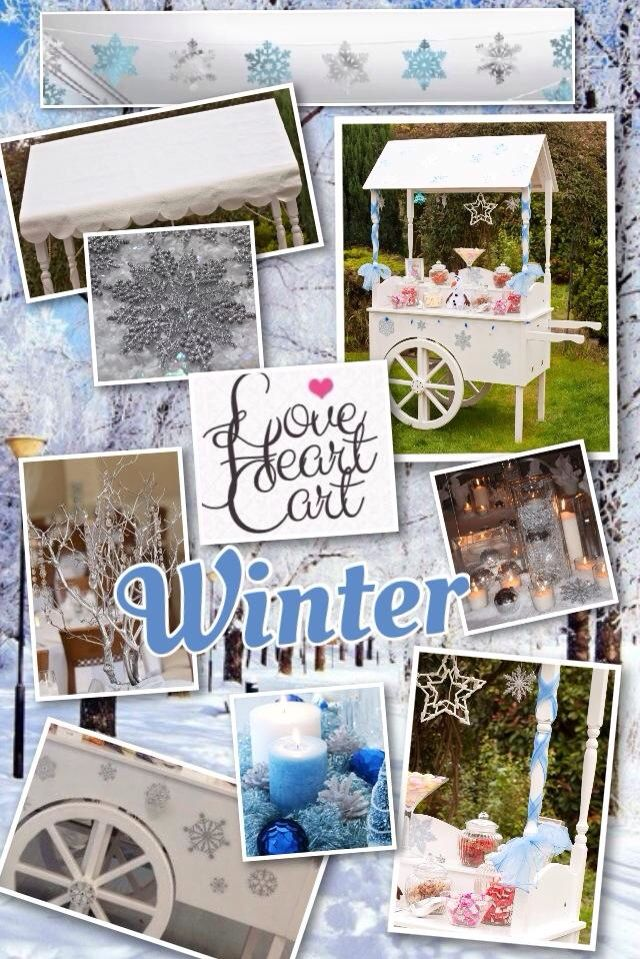 Winter Wedding Inspiration Board by www.facebook.com/loveheartcart