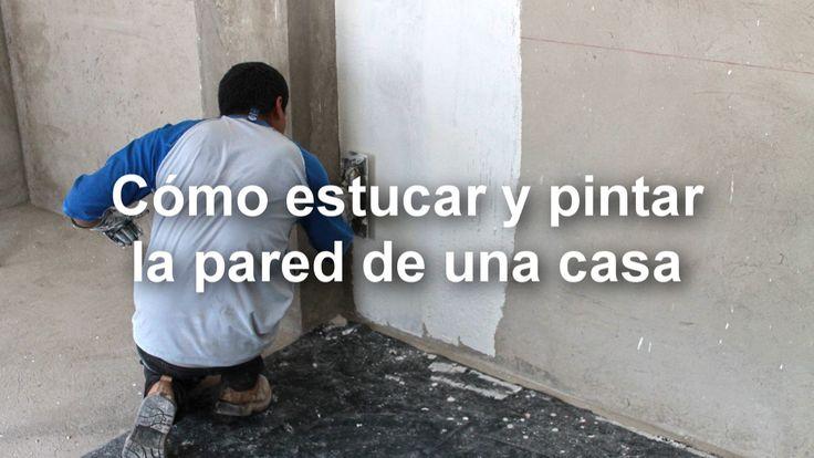 Cómo estucar y pintar la pared de una casa | Cómo aplicar el estuco | Revestimiento de paredes