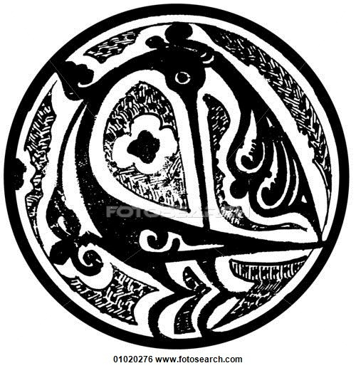 Stock Illustration of Signs & Symbols - line art Islam Ceramic dish. The crescent moon is the symbol of Islam Islam is both a culture and a religion with a rich tradition of artistic expression in literature, the visual arts engineering and architecture.