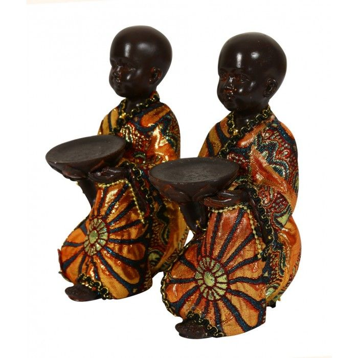 Name : Pair of Small Kneeling Monks with Bowls( Set of 2 ) Price : Rs 999 Buy Now at : http://www.indikala.com/new-additions/pair-of-small-kneeling-monks-with-bowls.html #Antiques #Idols #Figurines #Decor