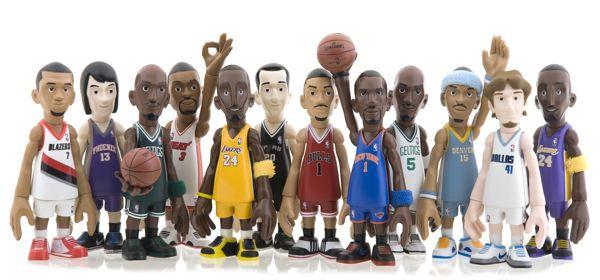NBA Art toy series / since 2010 by Coolrain Lee, via Behance
