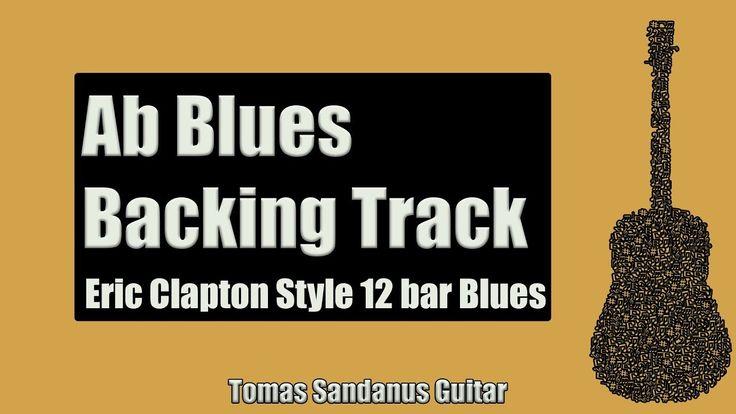 Eric Clapton Style Guitar Backing Track Slow 12 bar Shuffle Jam in Ab Blues
