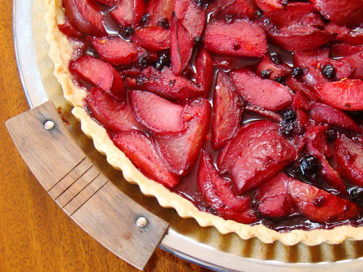 Blueberry Plum Tart with Lemon Shortbread Crust