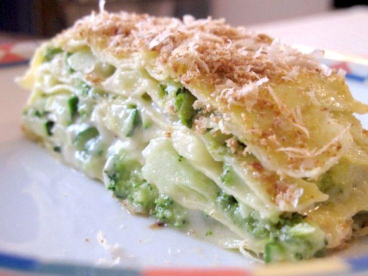 Lasagne bianche e verdi vegetariane
