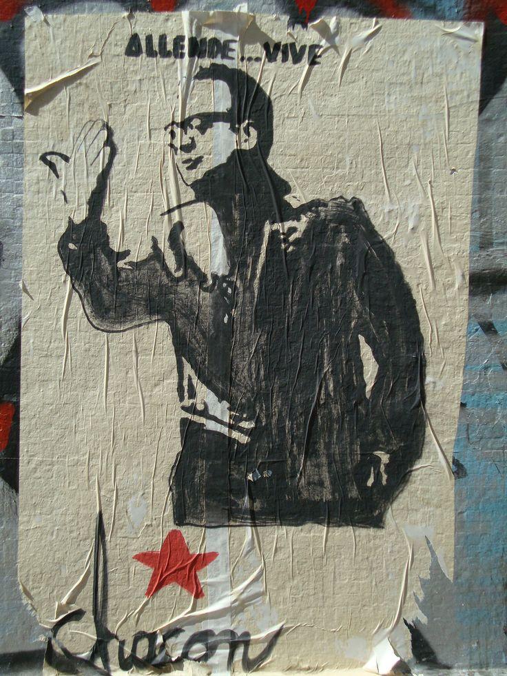 Allende vive. Brigada Chacón. Santiago de Chile, Romería al Cementerio General, 8 de sept. de 2013. A 40 años del golpe.