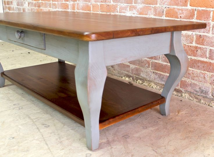 Old Pine Coffee Table In Slate