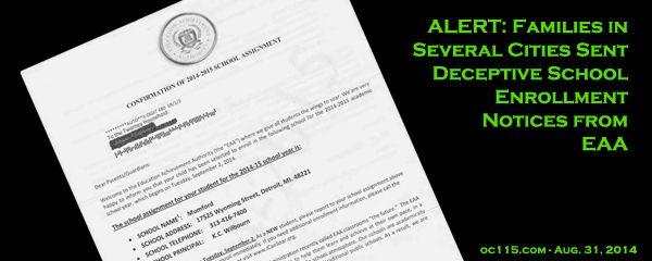 Families in Several Cities Sent Deceptive School Enrollment Notices