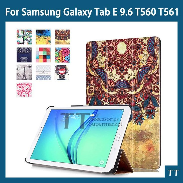 [Visit to Buy] case for samsung t560 t561 Magnet Stand pu Leather case For Samsung Galaxy Tab E T560 T561 9.6 Tablet cover case + free 2 gifts #Advertisement