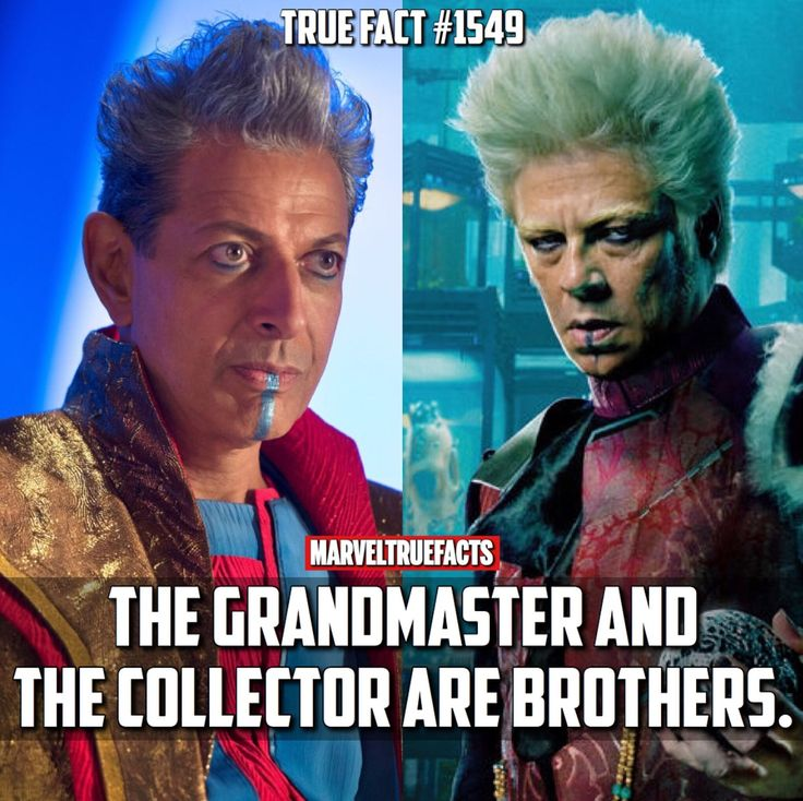 The Grandmaster and The Collector are brothers. #MarvelCinematicUniverse