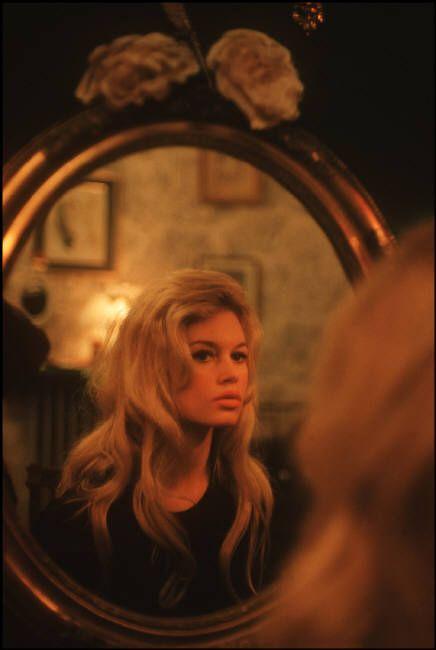 Brigitte Bardotphotographed by Nicolas Tikhomiroff, 1958: Nicolas Tikhomiroff, Mirror Mirror, Fashion Models, Mirrormirror, Mirror Image, 60S Hair, Brigittebardot, Photo, Brigitte Bardot