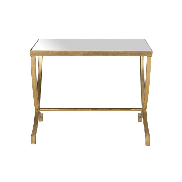 Safavieh Maureen Mirrored Accent Table, Gold