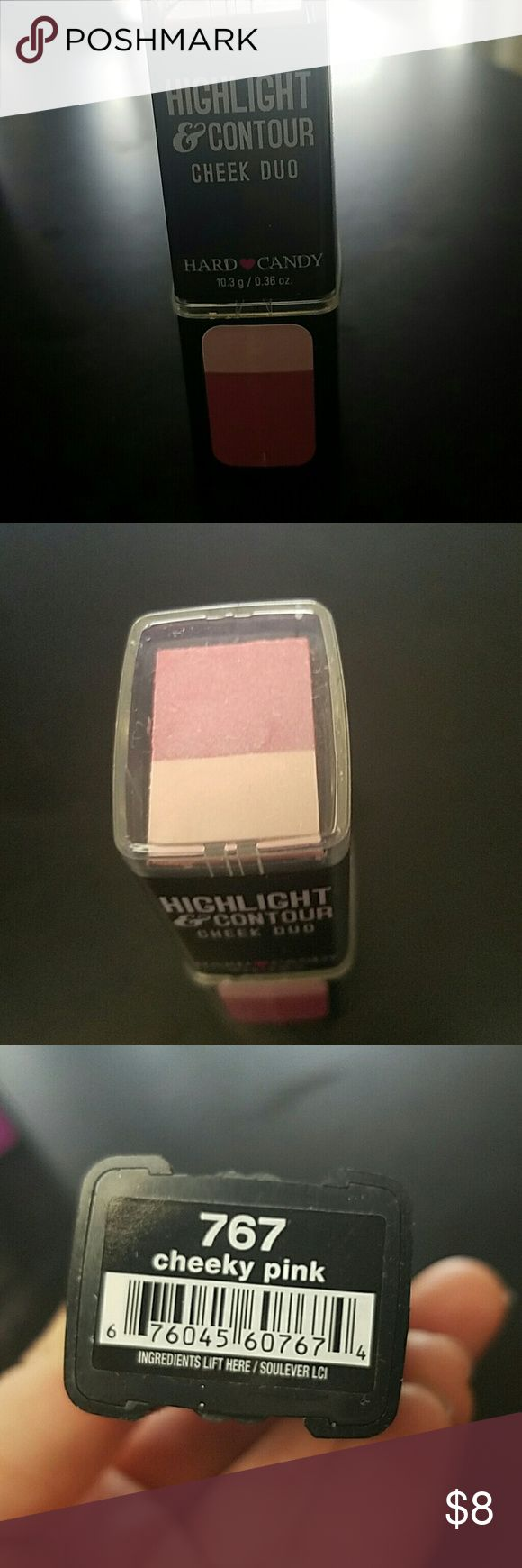 New hard candy highlight & contour cheek duo New hard candy highlight & contour cheek duo in cheeky pink Hard Candy Makeup