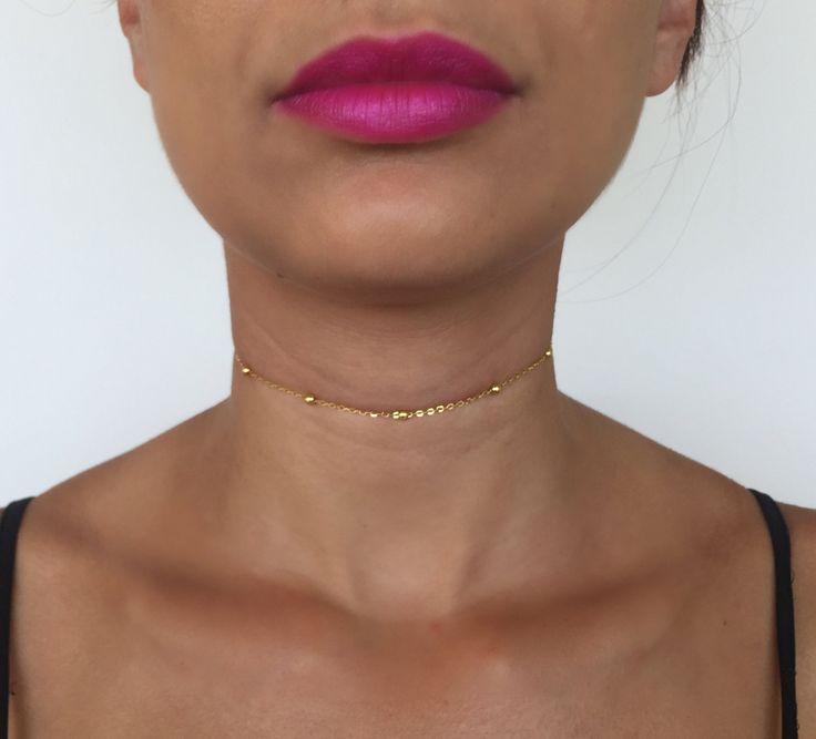 Gold Choker | Gold Necklace | Gold Chain | Gold Chain Necklace | Chain Choker | Chain Necklace | Gold Chain Choker | Sterling Silver Choker by byDej on Etsy