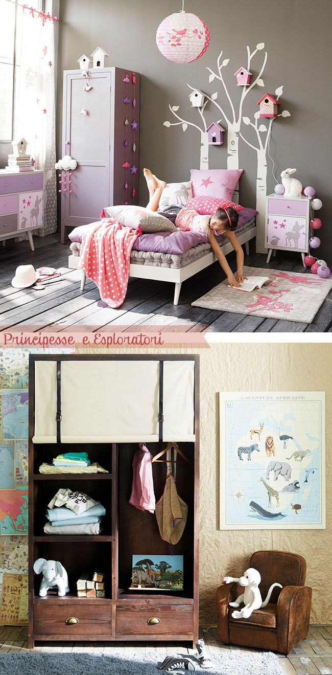 Love this little girl's room! Home Shabby Home: Maisons du Monde: Collezione Junior