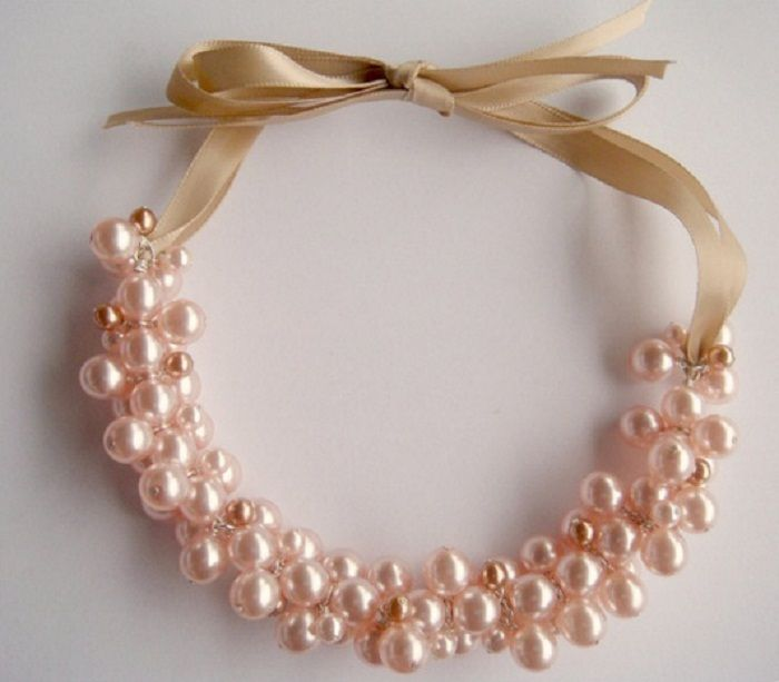 How To Make Elegant Pearl Cluster Necklace Jewelry Pinn Bead