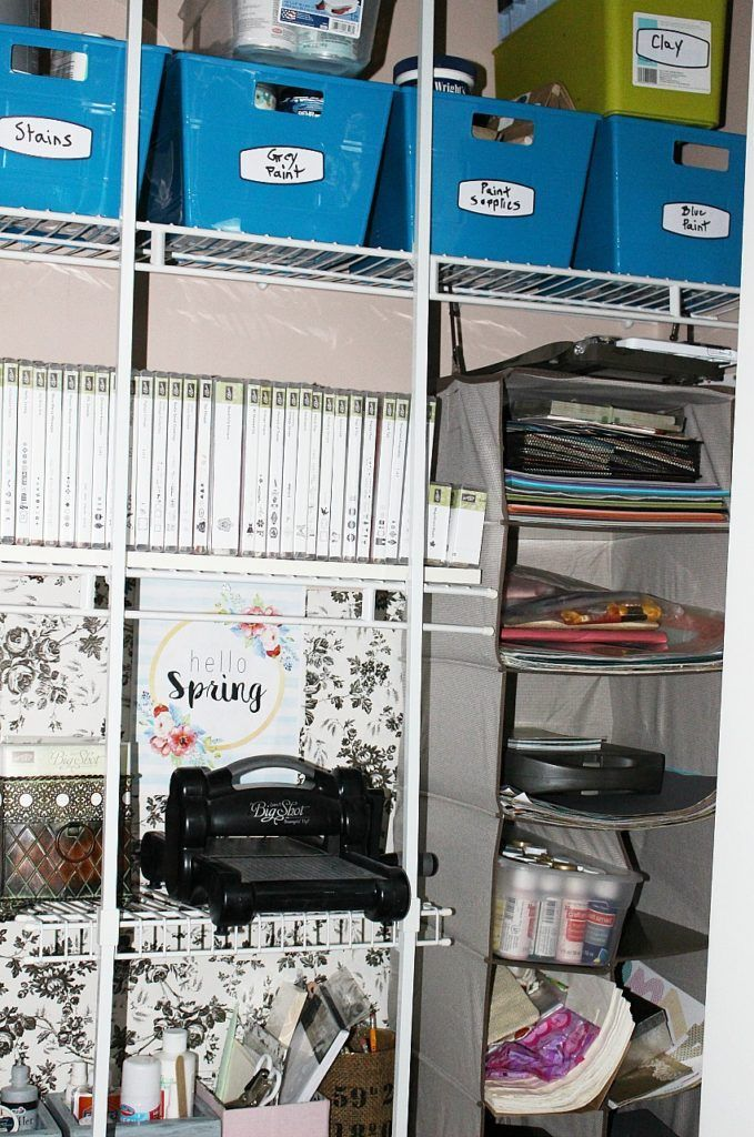 Spring Cleaning Craft Closet Organization Tips Our Crafty Mom @tidyliving #ad