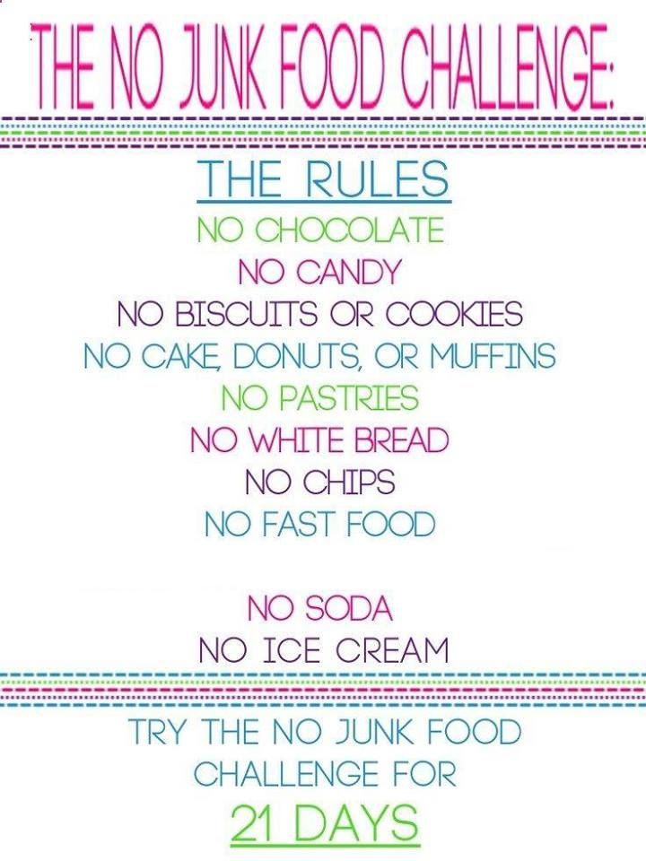 We already don't eat most of this anyways, but a good challenge for friends and family!