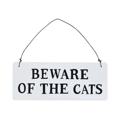 Plaque - Beware Of The Cats