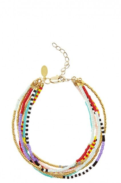 Something that her children might love, that would remind her of them.  Multi Strand Bead Bracelet, Calypso St Barth