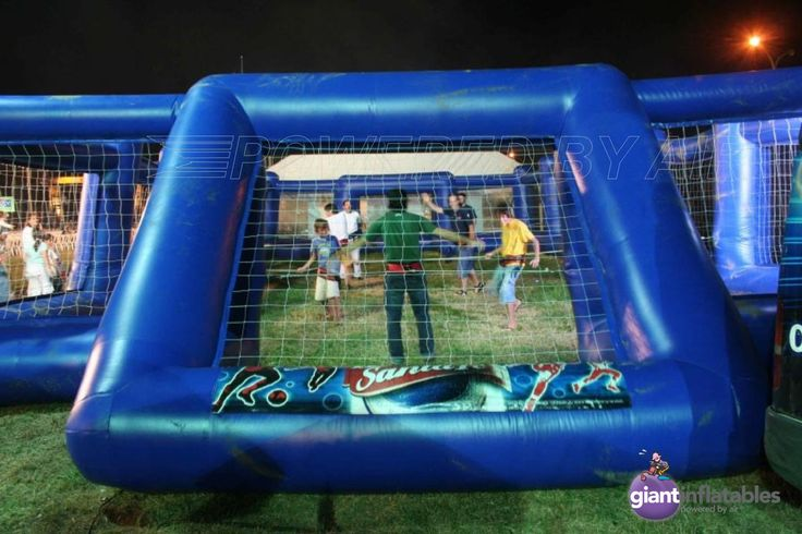 inflatable soccer goals and soccer field