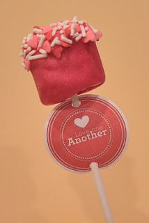 Valentine's Cake Pop Tag/Cupcake Topper Printable