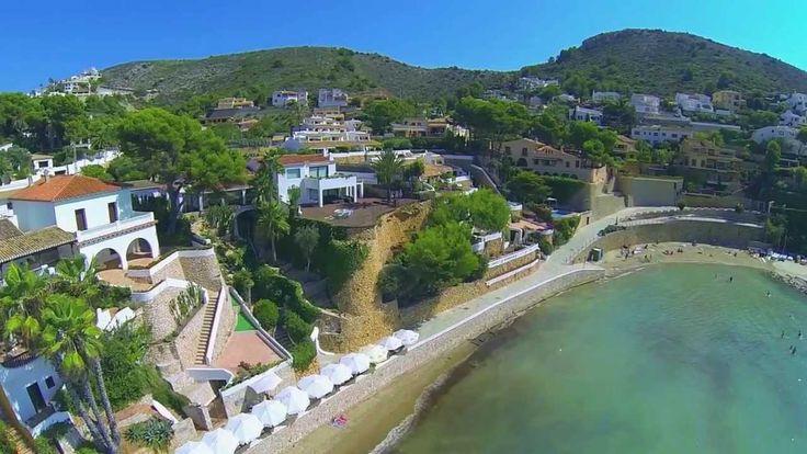Drone footage of Spain: Javea, Denia & Moraira. With Chakra healing musi...