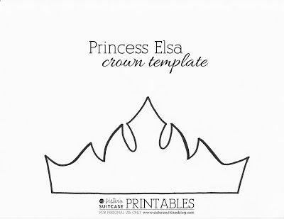 Download this Frozen Elsa crown template or Sven Reindeer Antler template to make your own! Perfect for a Frozen Birthday Party favor or easy craft!