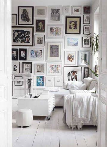 For the past few days ive been thinking too much art not enough wall space not when you do it like this lots of white mirroring the wall color