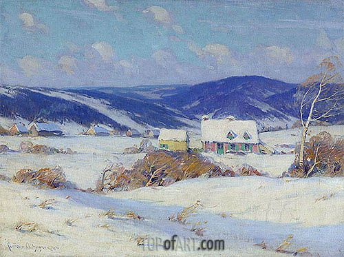 Clarence Gagnon | In the Laurentians, Winter, 1910
