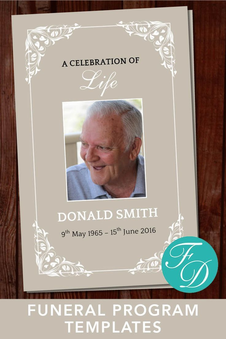 Funeral Program Template For Man Traditional Obituary Template